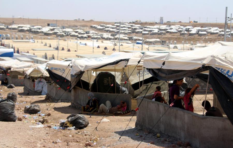 Obóz dla uchodźców na granicy iracko-tureckiej