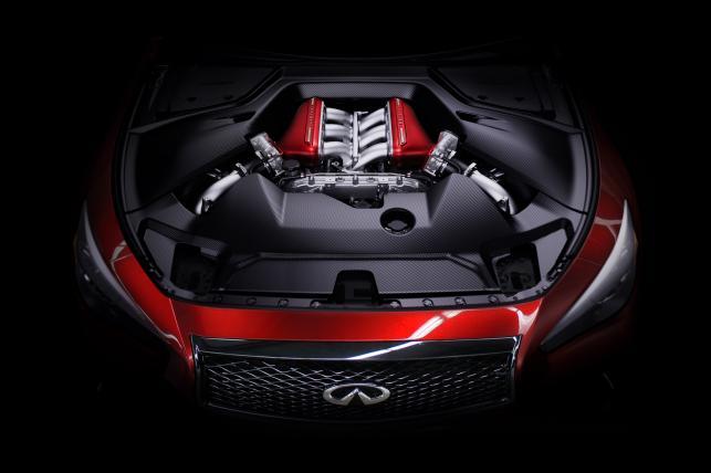 Infiniti Q50 Eau Rouge - silnik, który pochodzi z nissana GT-R stał się legendą wśród fanów samochodów sportowych