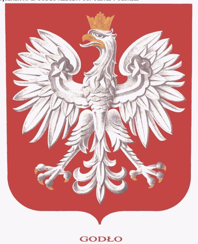 Orzeł z ustawy o godle, barwach i hymnie Rzeczypospolitej Polskiej oraz o pieczęciach państwowych