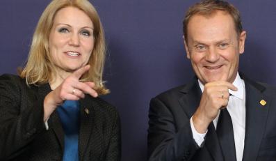 Na zdjęciu archiwalnym z 22.11.2012. premier Donald Tusk i premier Danii Helle Thorning-Schmidt