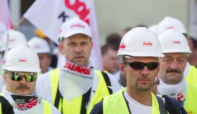Protest górników w Sosnowcu
