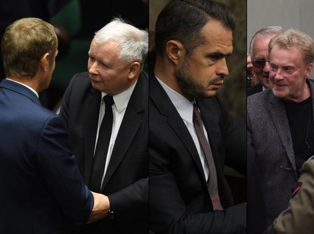 Donald Tusk i Jarosław Kaczyński, Sławomir Nowak, Daniel Olbrychski