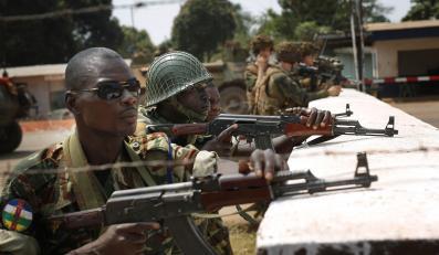 Republika Środkowoafrykańska, Afryka: żołnierze sił stabilizacyjnych na posterunku w Bangui