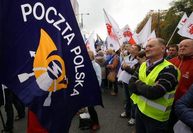 Protest pracowników Poczty Polskiej