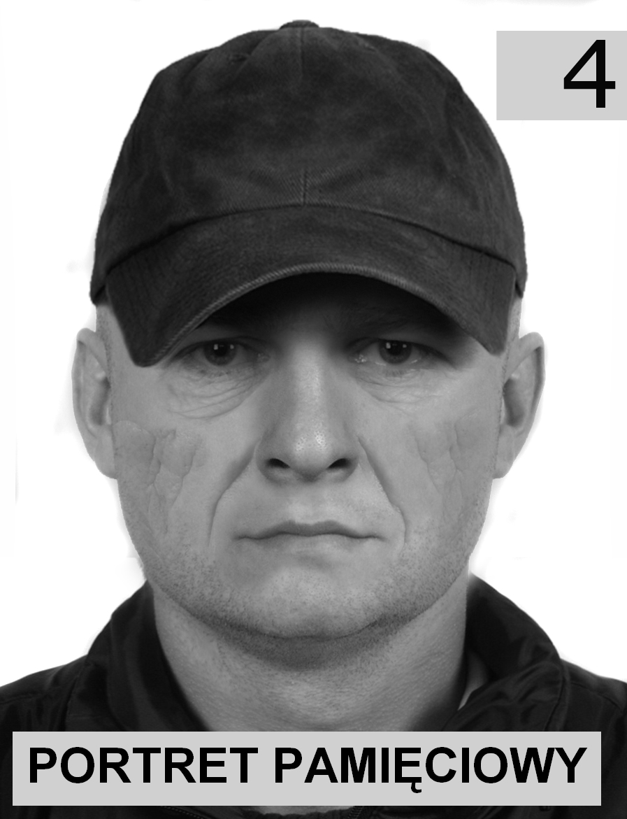 Portret pamięciowy poszukiwanego mężczyzny (źródło: bochnia.policja.gov.pl)