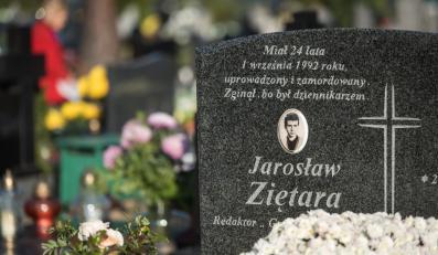 Symboliczny grób Jarosława Ziętary