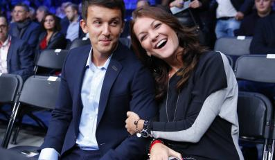 Agnieszka Radwańska przyszła z chłopakiem na walkę Adamka ze Szpilką