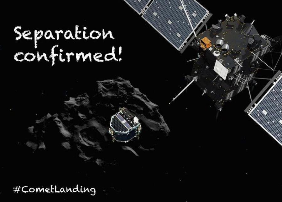 Sonda kosmiczna Rosetta (fot. Twitter/@ESA_Rosetta)