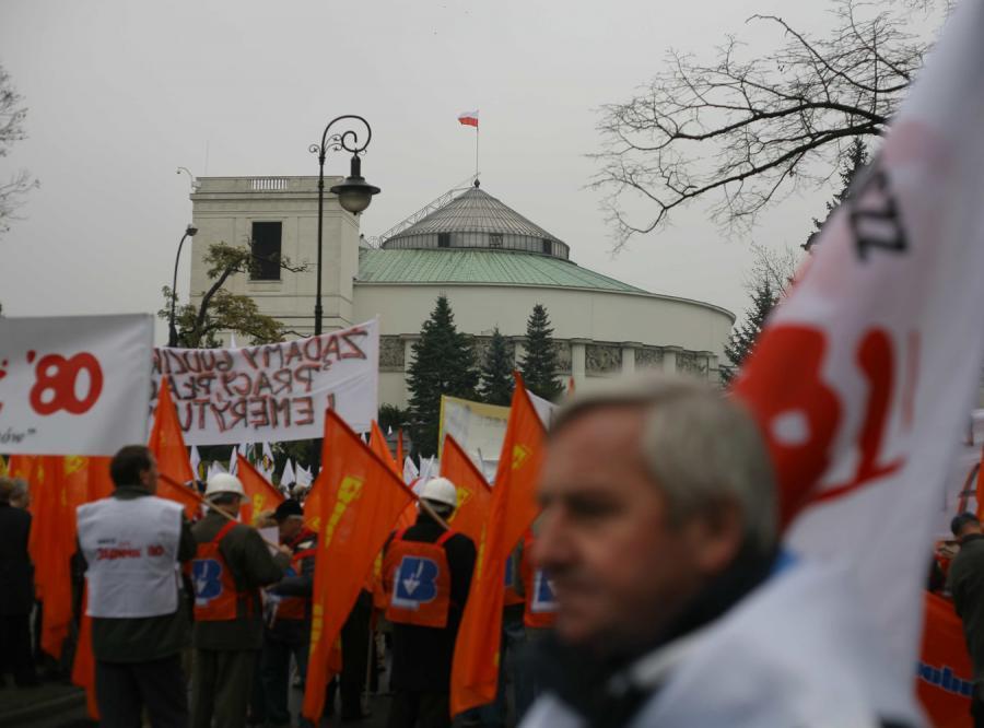 Związkowcy protestowali przeciw reformie emerytalnej