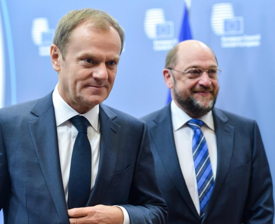 Donald Tusk i Martin Schulz