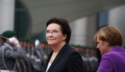 Ewa Kopacz i Angela Merkel podzas pierwszej wizyty polskiej premier w Berlinie