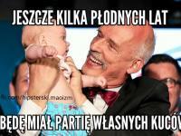 Korwin-Mikke płodzi własną partię. MEMY DNIA
