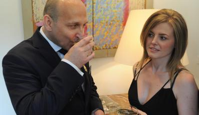 """Kazimierz Marcinkiewicz i jego żona, Izabela Olchowicz-Marcinkiewicz, czyli """"Isabel"""""""