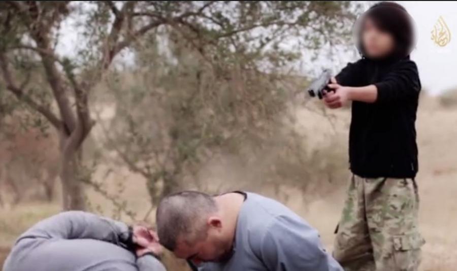 Kadr z wideo terrorystów Państwa Islamskiego
