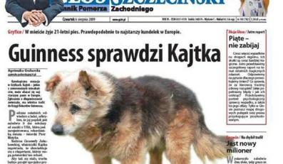 Oto Kajtek, najstarszy pies w Europie
