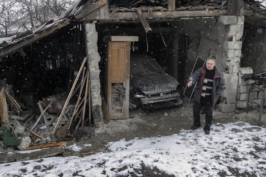 Zniszczenia w Donbasie
