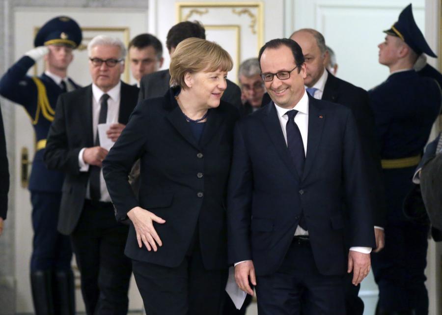 Angela Merkel i Francoise Hollande