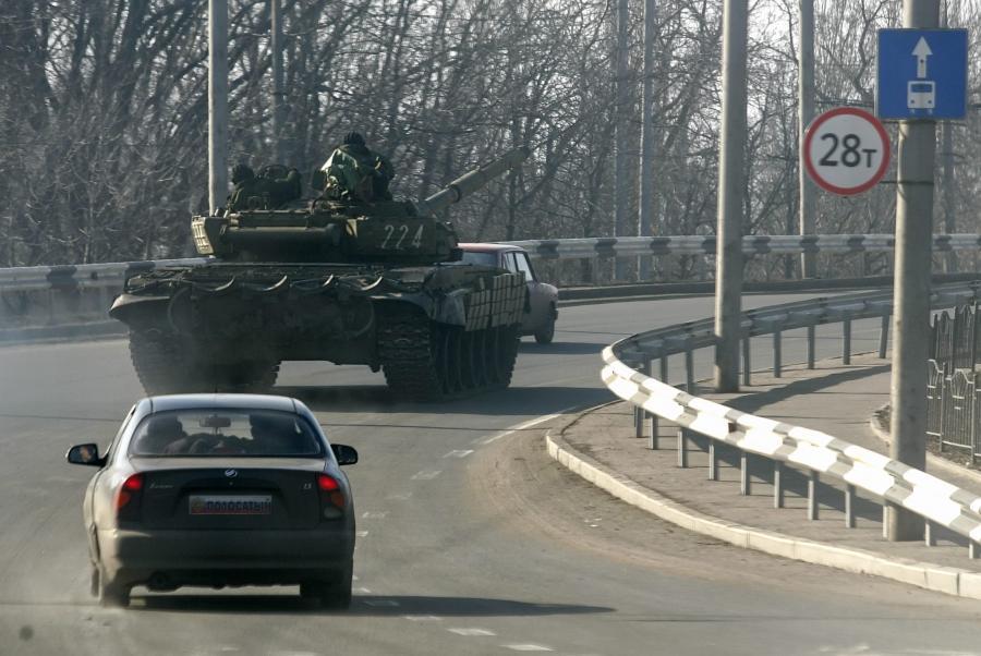 Czołgi separatystów na Ukrainie