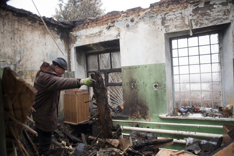 Zniszczony szpital w Donbasie