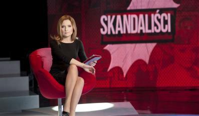 """Agnieszka Gozdyra na planie programu """"Skandaliści"""""""
