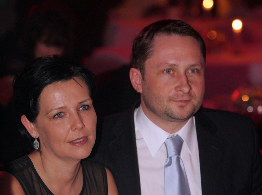 Kamil Durczok z żoną Marianną (zdjęcie z 2006 roku)