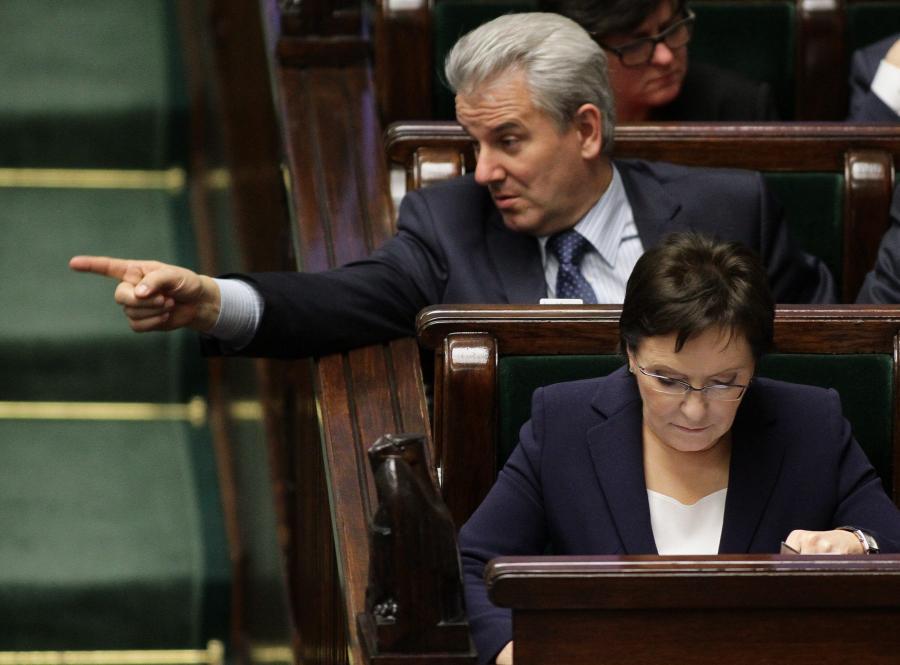 Minister sprawiedliwości Cezary Grabarczyk w Sejmie