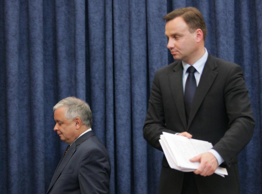 Lech Kaczyński i Andrzej Duda