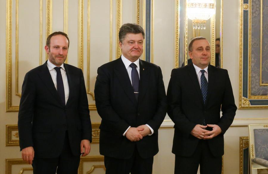 Martin Lidegaard, Petro Poroszenko i Grzegorz Schetyna