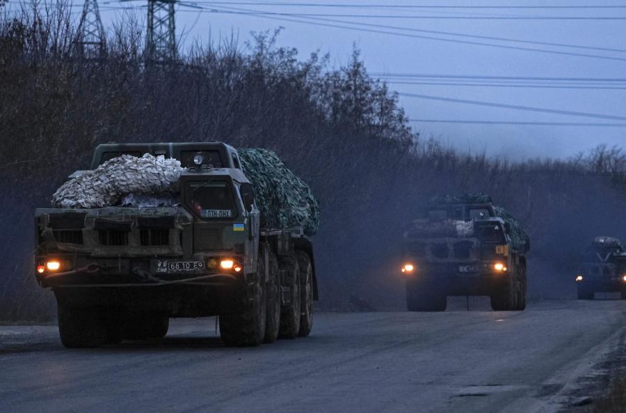 Ukraiński transport wojskowy