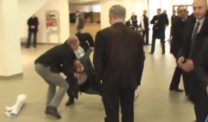 Kadr z filmu nagranego przez dziennikarza Radia Rzeszów