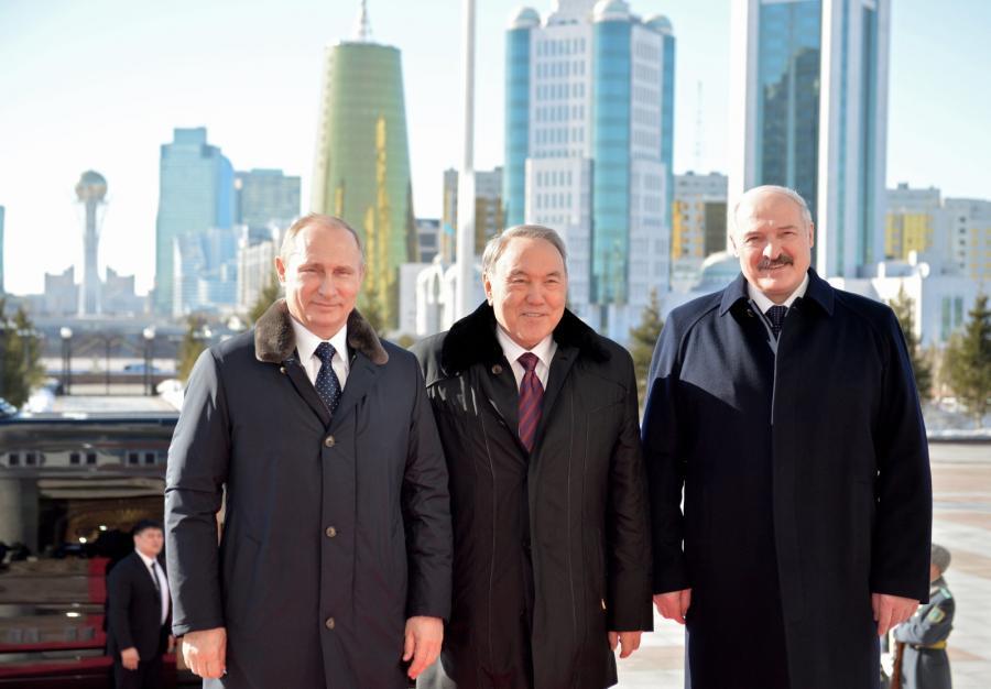 Władimir Putin, Nursułtan Nazarbajew, Aleksandr Łukaszenka