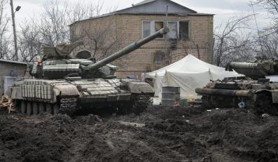 Ukraiński czołg w Donbasie