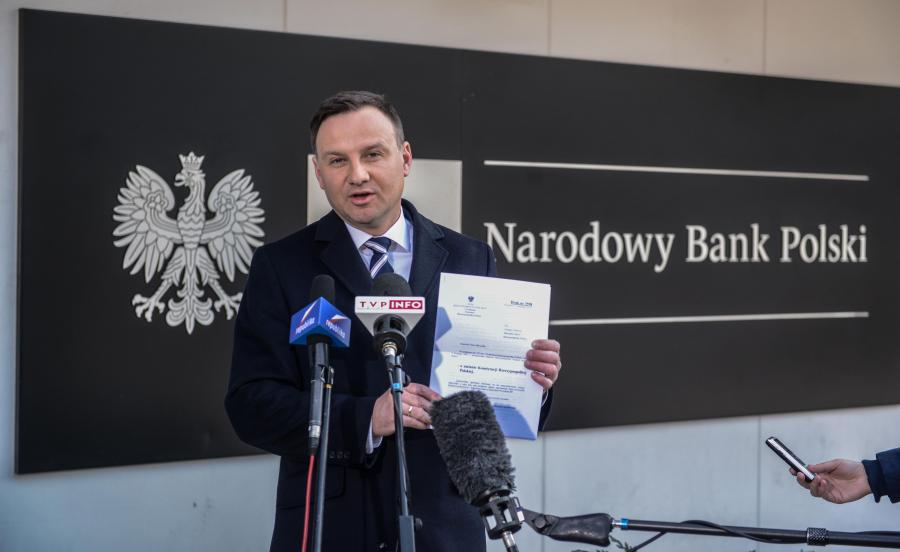 Andrzej Duda przed NBP