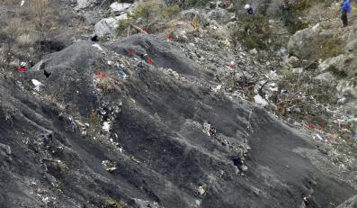 Miejsce katastrofy airbusa A320 w Alpach Francuskich