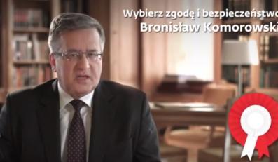 Bronisław Komorowski w spocie