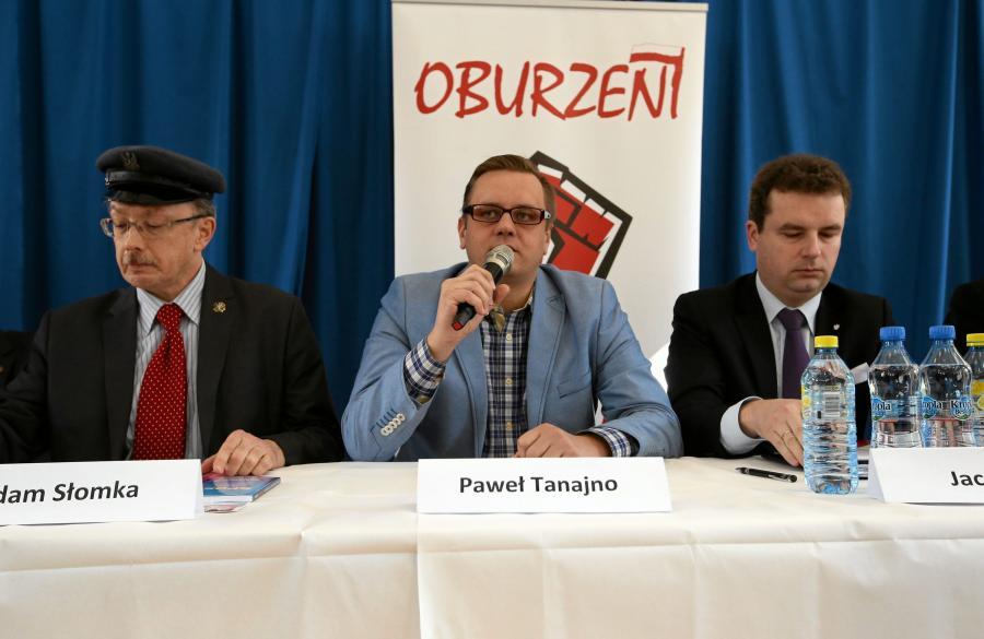 Adam Słomka, Paweł Tanajno i Jacek Wilk podczas debaty antysystemowych kandydatów na urząd prezydenta Polski