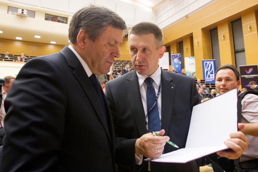 Janusz Piechociński i Jan Bury