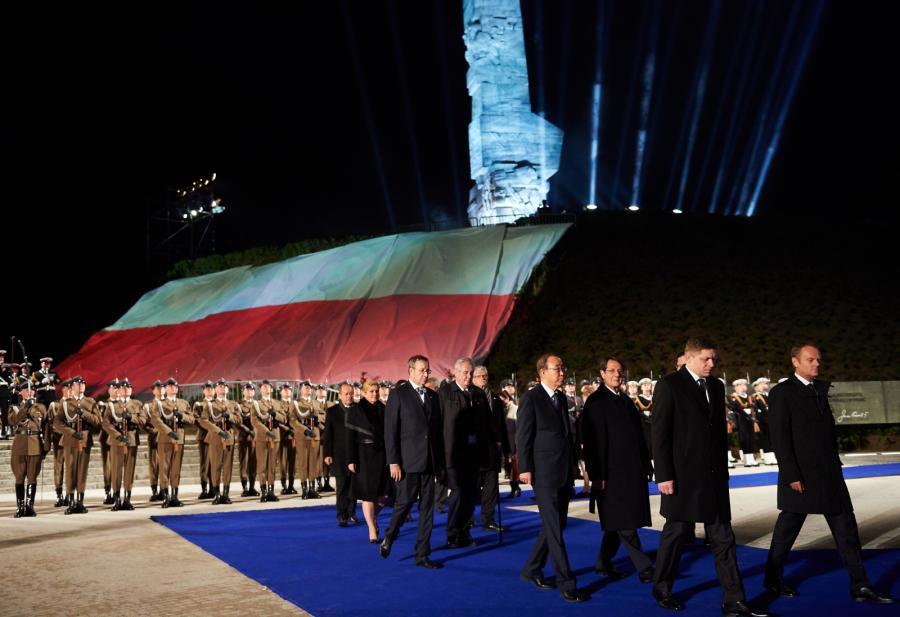Obchody 70. rocznicy zakończenia II wojny światowej, na Westerplatte w Gdańsku
