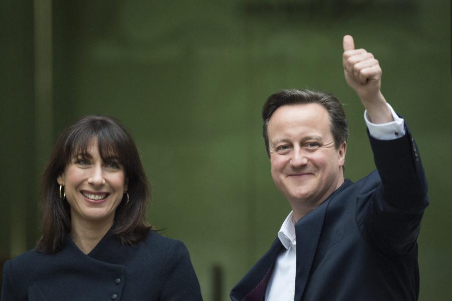David Cameron z małżonką