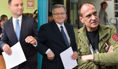 Andrzej Duda, Bronisław Komorowski i Paweł Kukiz