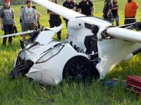 Roztrzaskał latający... samochód. Zobacz zdjęcia z katastrofy pojazdu przyszłości