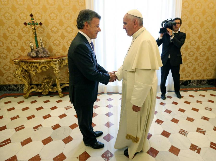 Papież Franciszek i prezydent Kolmbii, Juan Manuel Santos