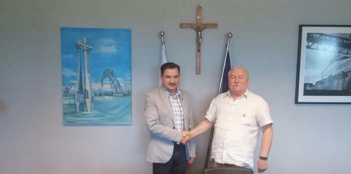 Piotr Duda i Lech Wałęsa