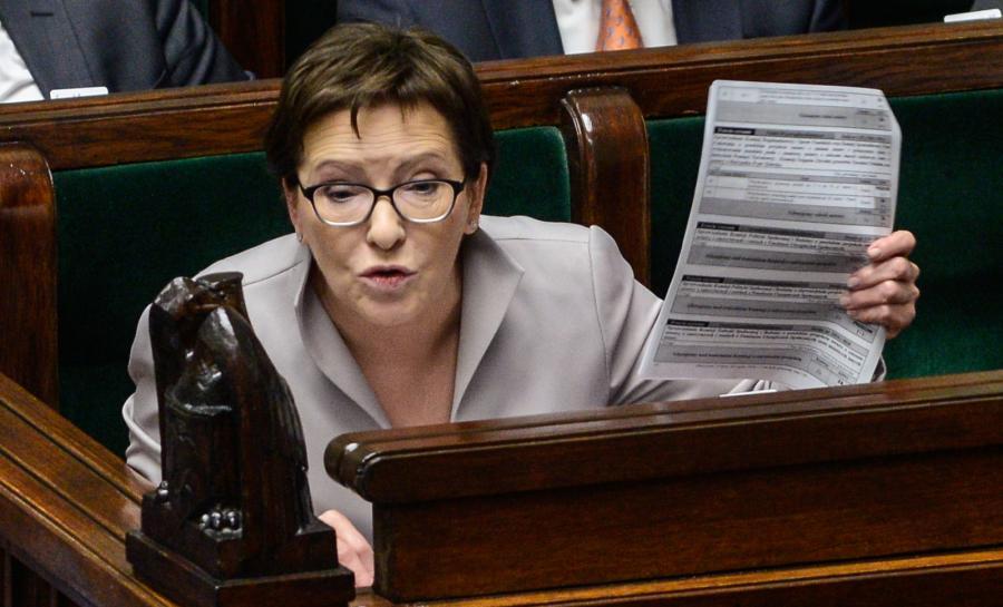 Premier Ewa Kopacz podczas ostatniego dnia 96. posiedzenia Sejmu