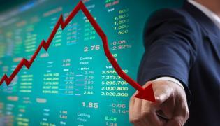 Spadający wskaźnik ekonomiczny