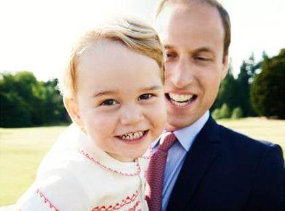 Książe William z księciem Jerzym / zdjęcia z oficjalnego profilu Brytyjskiej Rodziny Królewskiej