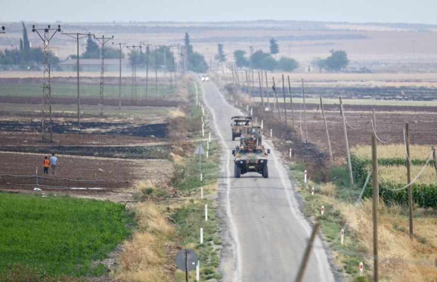 Turecki patrol niedaleko granicy z Syrią