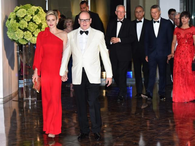 Księżna Charlene i książę Monako Albert II