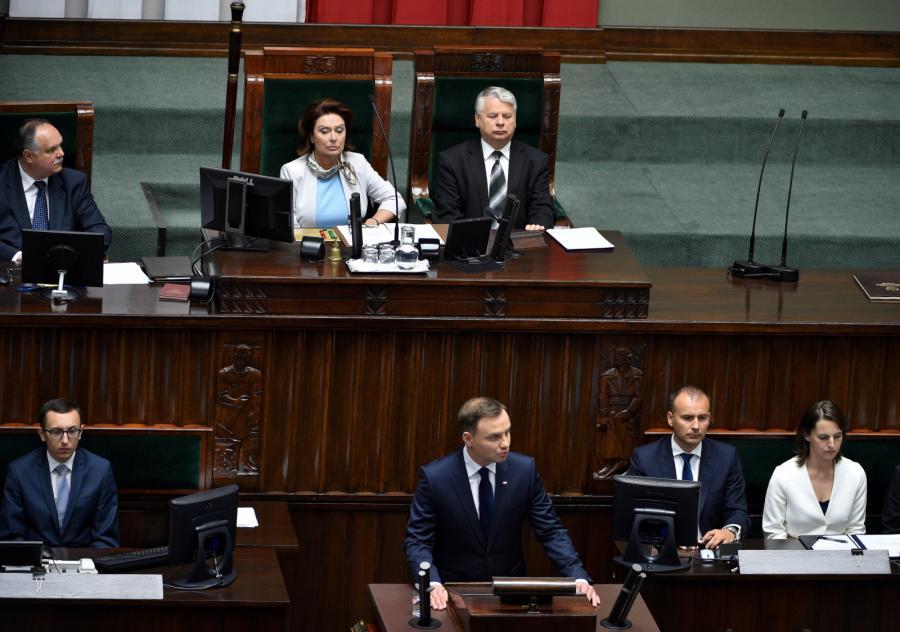 Andrzej Duda wygłasza orędzie w Sejmie