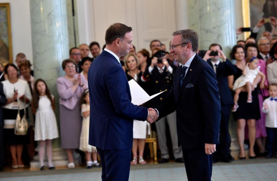Prezydenta Andrzej Duda powołał Krzysztofa Szczerskiego na sekretarza stanu w KPRP odpowiedzialnego za sprawy zagraniczne
